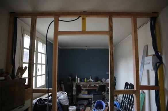 cloisons en ossature bois au 33 de la rue. Black Bedroom Furniture Sets. Home Design Ideas